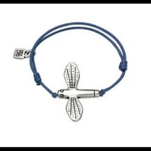 UNO de 50 Adjustable Blue Dragonfly Bracelet